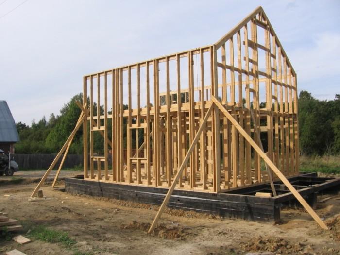 Строим каркасный дом поэтапный показ строительства