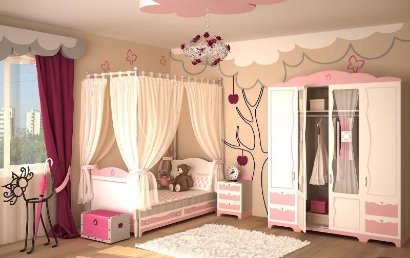 фото дизайн детской комнаты для девочки