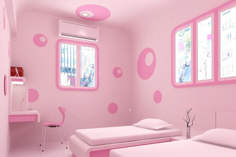 Дизайн детской комнаты для девочки в розовых тонах - Фото Дизайн интерьера