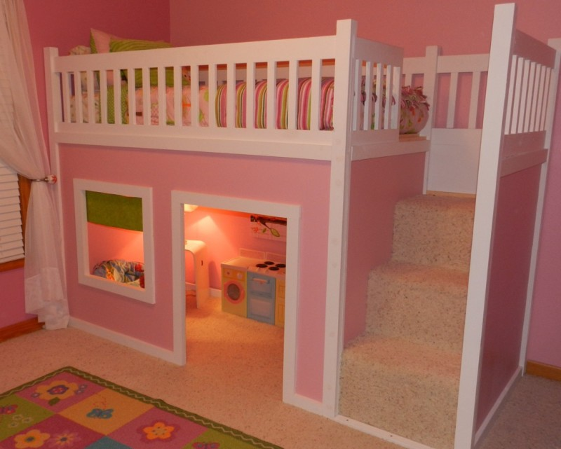 Girls Bunk Beds  Bunk Bed for Girls  Girl Bunkbeds with