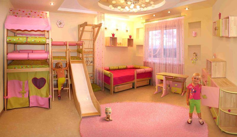 Дизайн интерьера детской комнаты в фото