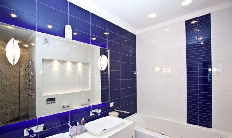 Плитка для ванной комнаты синяя фото дизайн