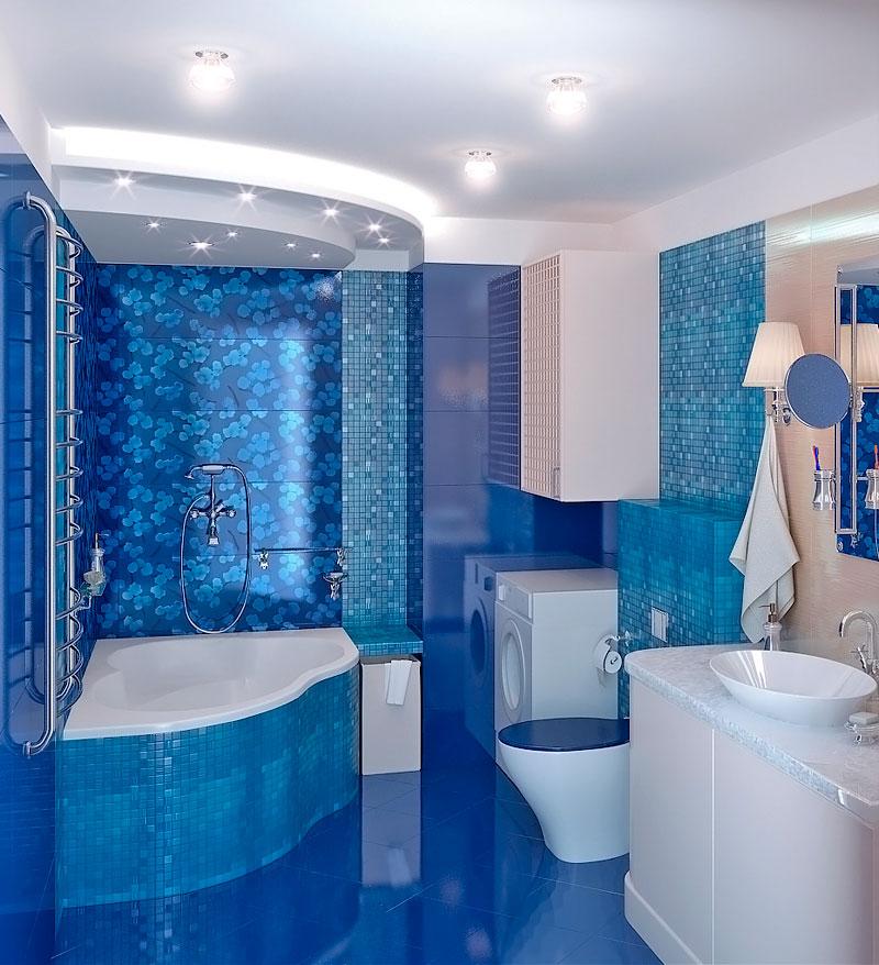 Ванная комната дизайн синего цвета