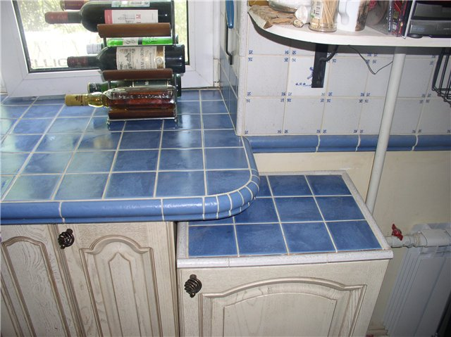 Столешница для кухни из плитки своими руками видео