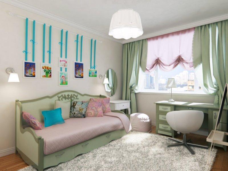 Интерьер комнаты для мамы с дочкой фото