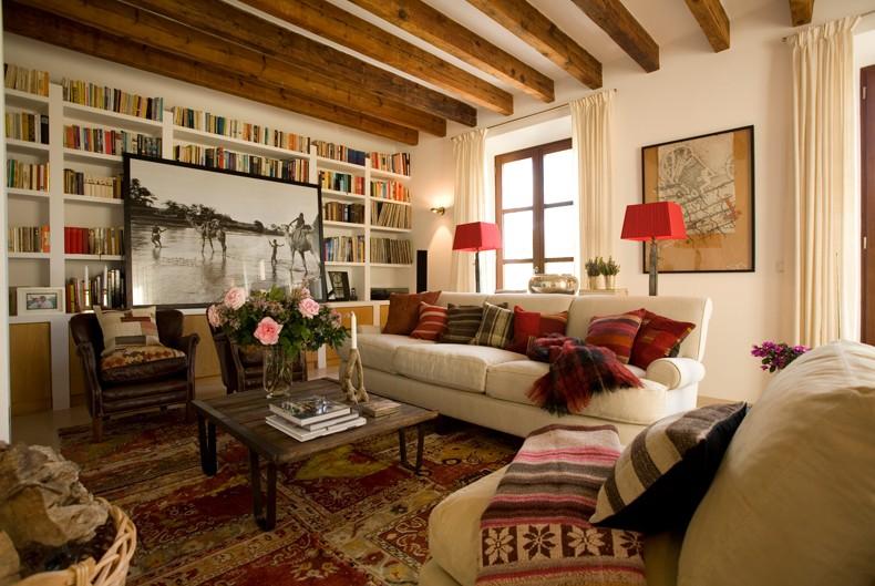 Дизайн интерьера домов в стиле кантри фото
