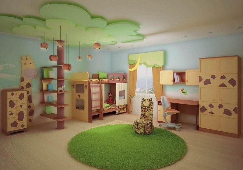 Дизайн детской комнаты для мальчиков-фото