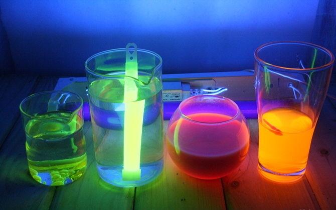 Как сделать светящиеся воду в домашних