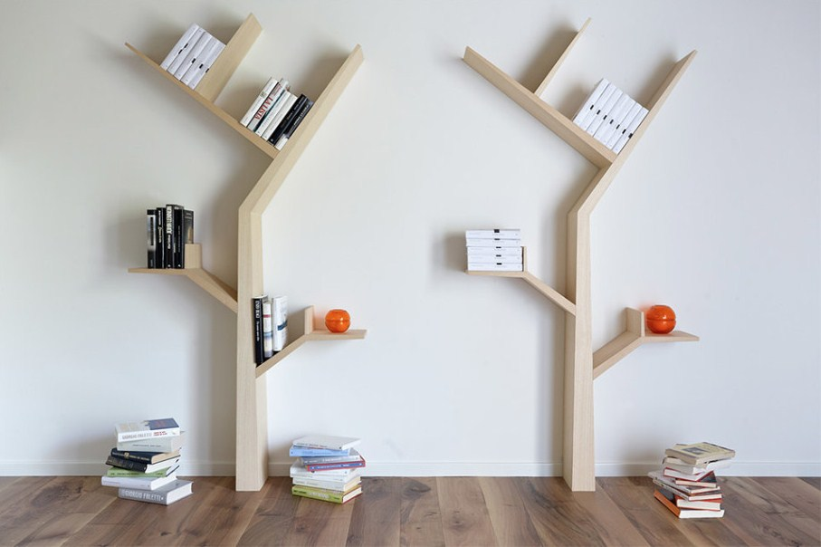 книжная полка в виде дерева этом