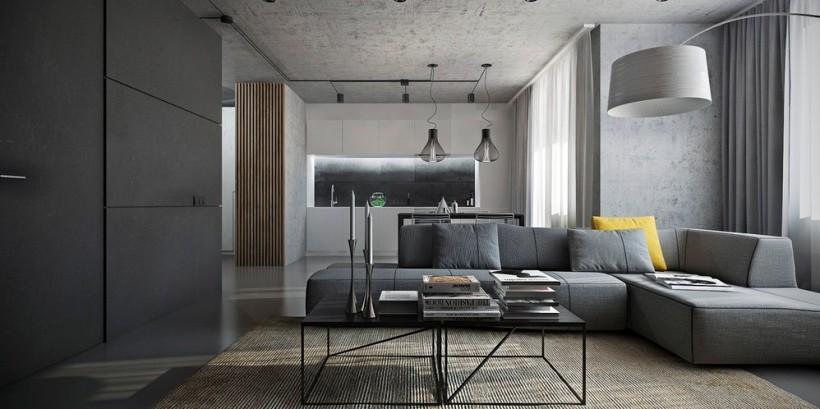 фото интерьера кухни с диваном 13 кв.м