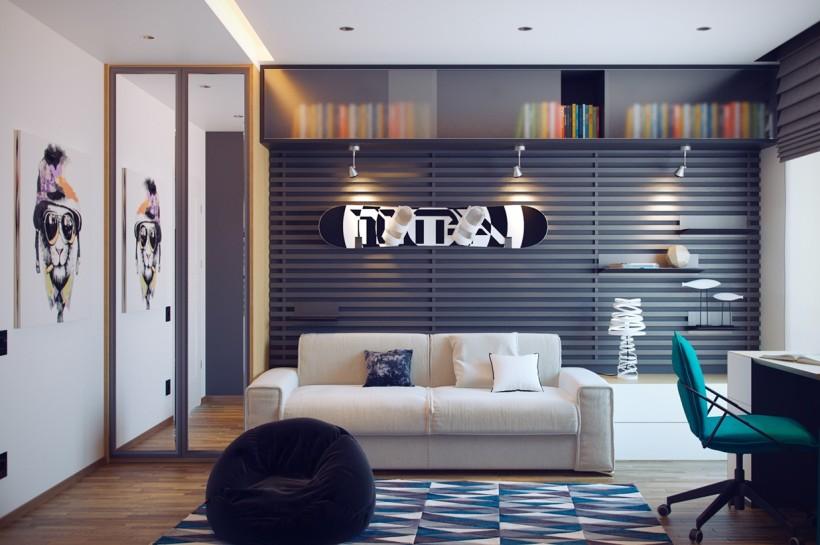 Дизайн комнаты подростка фото 2016 современные идеи