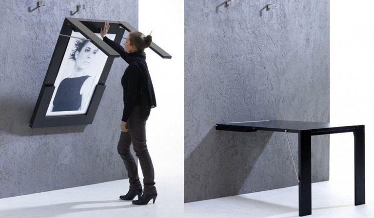 Откидной стол на стену