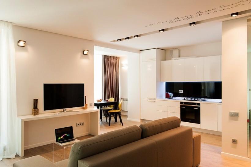 Современный дизайн квартиры-студии фото