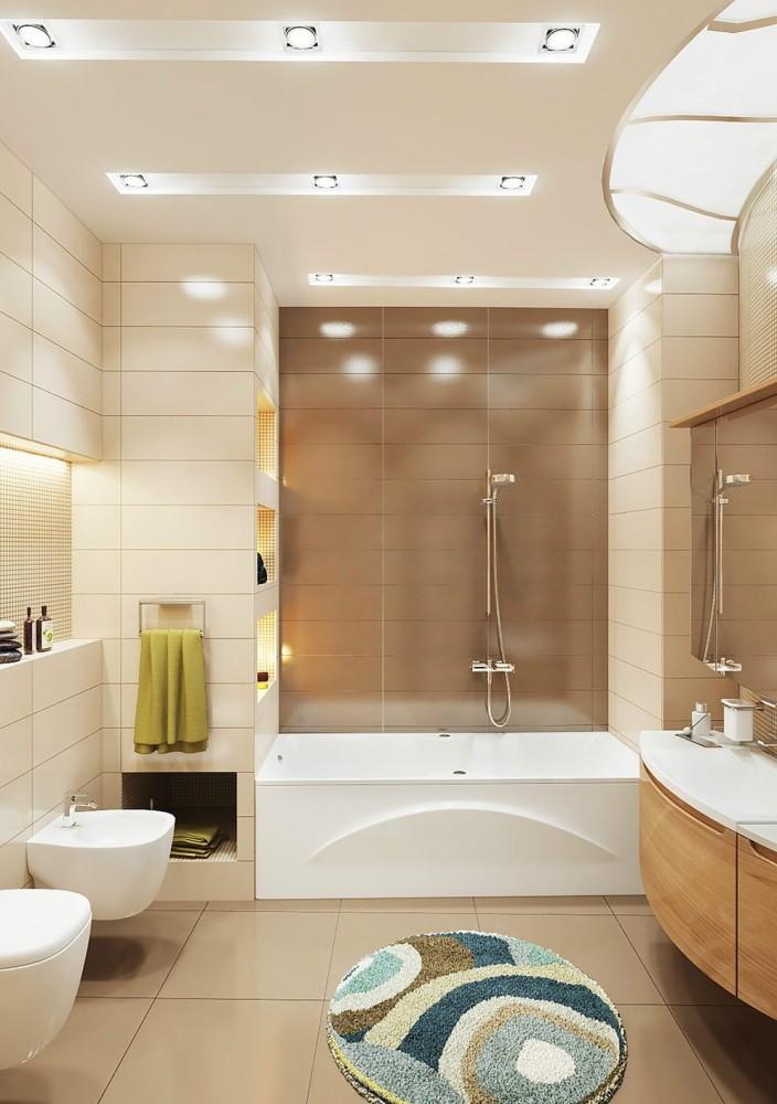 Дизайн ванной комнаты красками