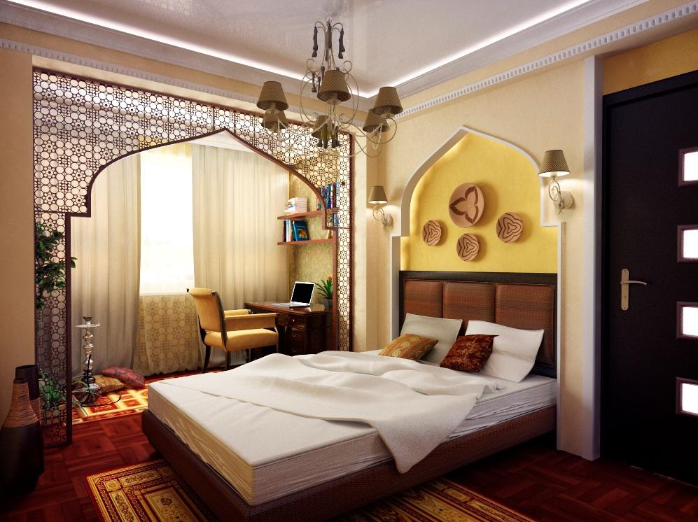 Спальня и в восточном стиле