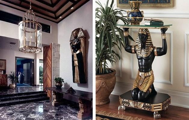 Египетский стиль в дизайне интерьера - фото дизайн интерьера.