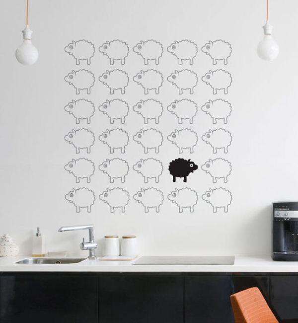 наклейки на стену панда