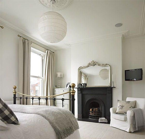 Спальня с электрокамином в квартире электрокамин miranda suite