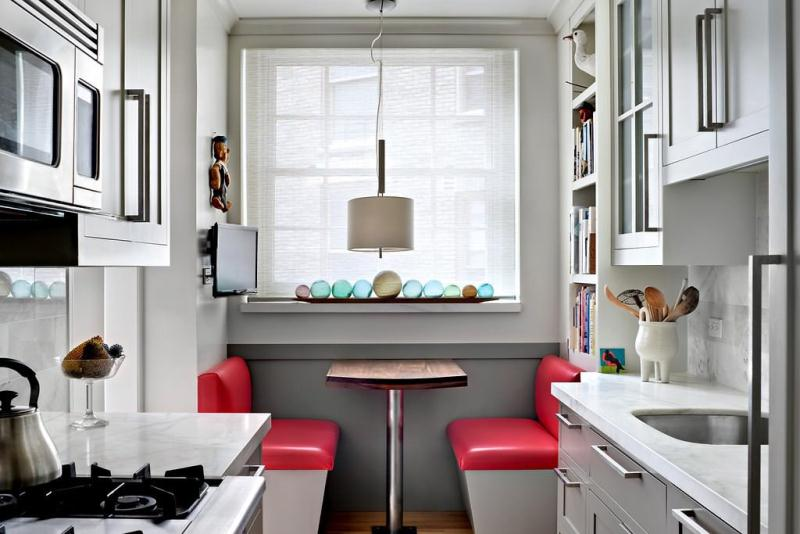 Идея для интерьера маленькой кухни
