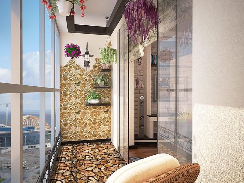 Дизайн балкона в квартире - фото дизайн интерьера.