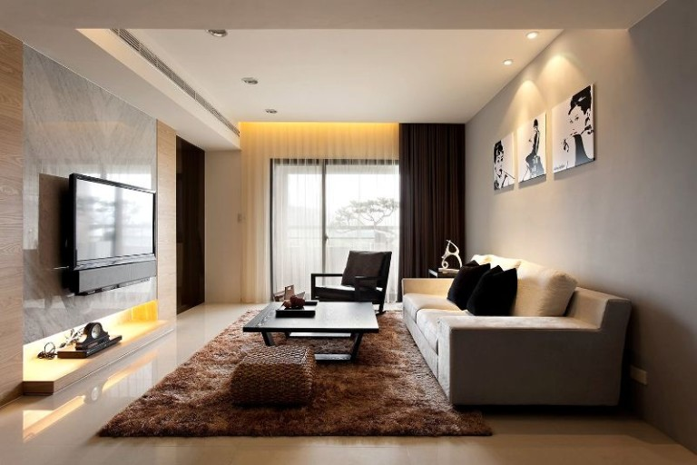 Модный дизайн гостиной комнаты 2018