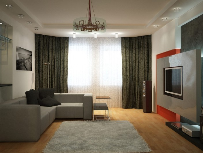 Дизайн двухкомнатной квартиры 100 75