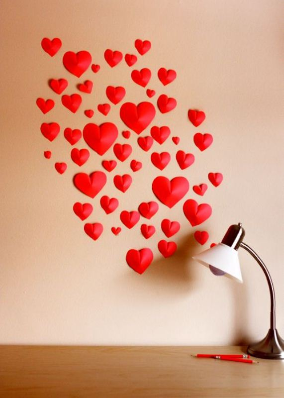 Красное сердечко своими руками