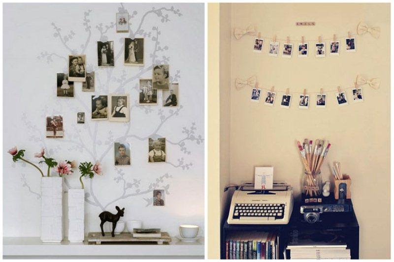 размещение на стене фотографий