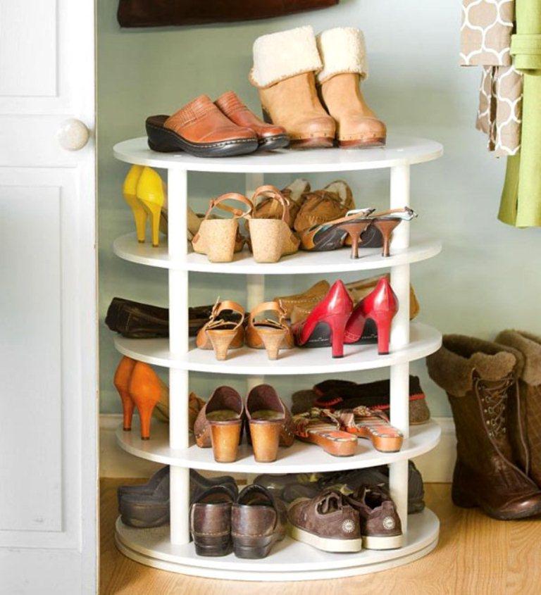 Полка круглая для обуви своими руками