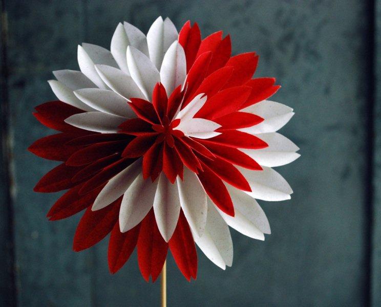Как сделать цветок георгин своими руками