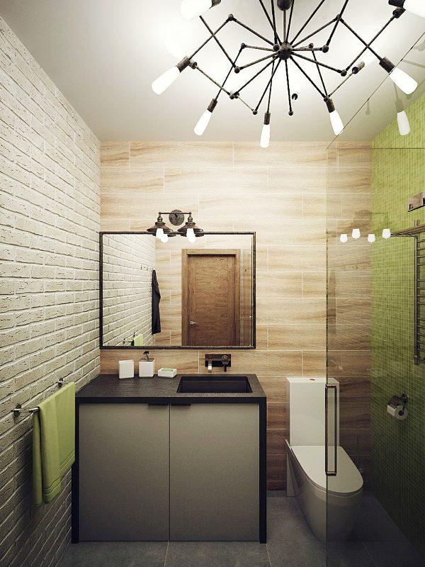 Дизайн маленьких ванной комнаты с душевой кабиной фото