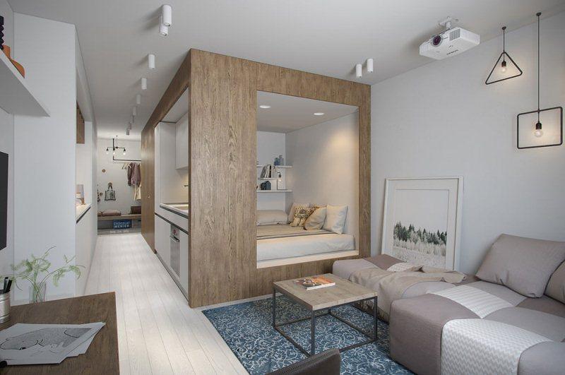 фото квартиры-студии дизайн