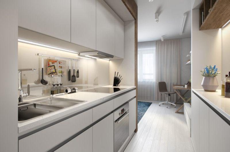Дизайн прямоугольной квартиры студии фото