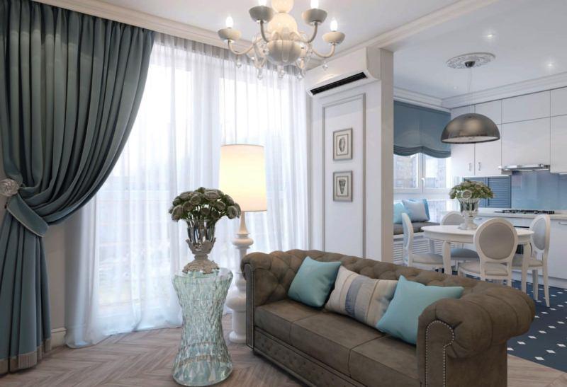 Дизайн гостиной в стиле неоклассика фото