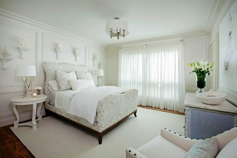 Спальни в белом цвете дизайн