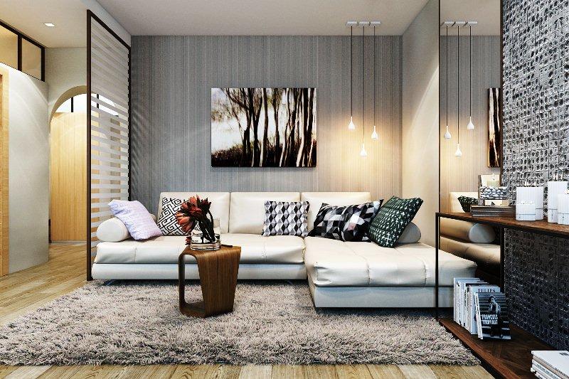 дизайн квартир с угловыми диванами
