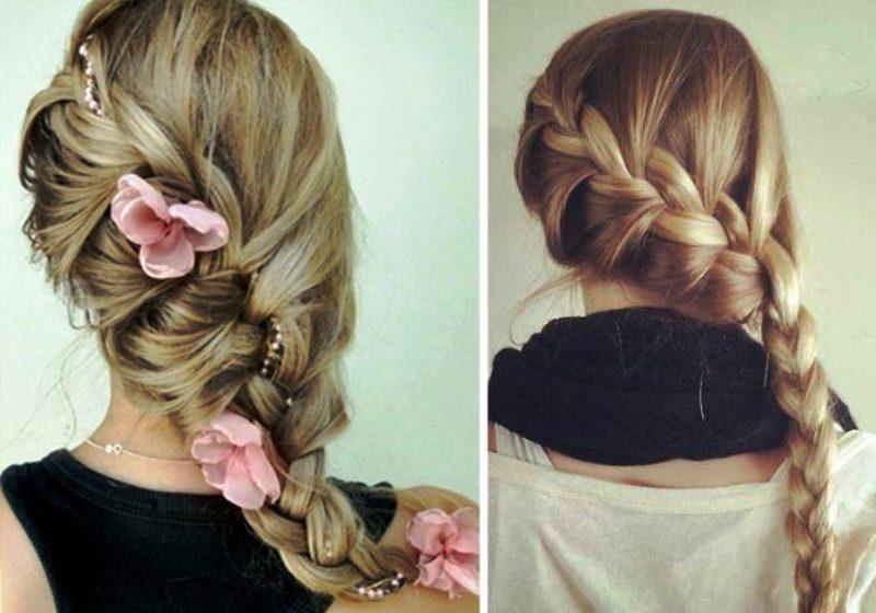 Фото причесок французская коса