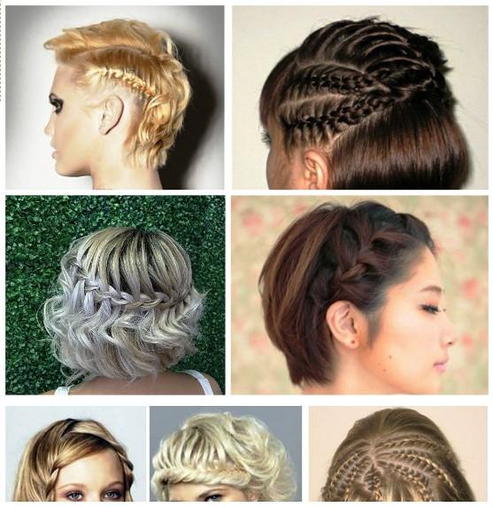 Фото как плести косы на короткие волосы
