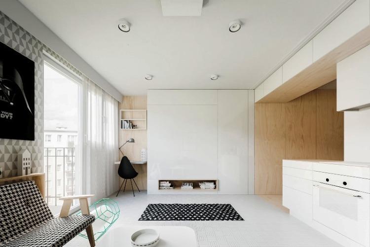 Интерьер квартиры-студии 20 кв.м фото