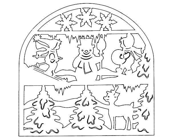 Новогодние вытынанки: украшаем дом силуэтной вырезкой из ...