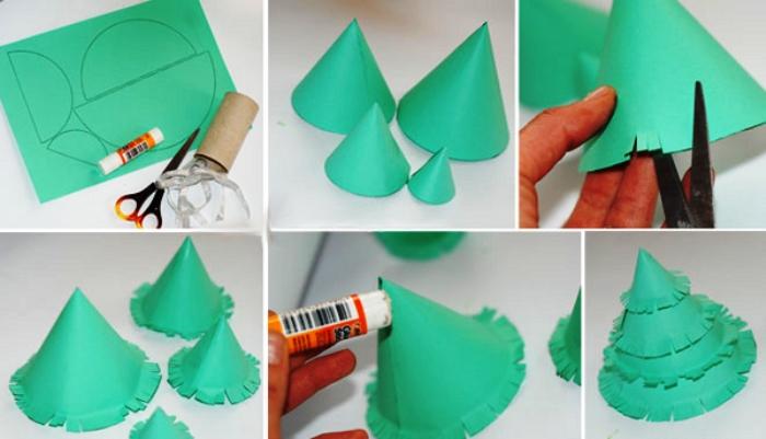 Как сделать елку своими руками из бумаги с фото оригами