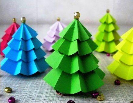 Новогодние поделки из цветной бумаги
