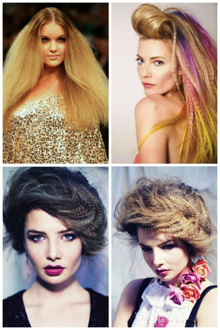 Простые красивые прически на средние волосы на себе