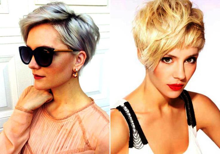 Модные стрижки 2017 на короткие волосы фото для женщин за 30 фото