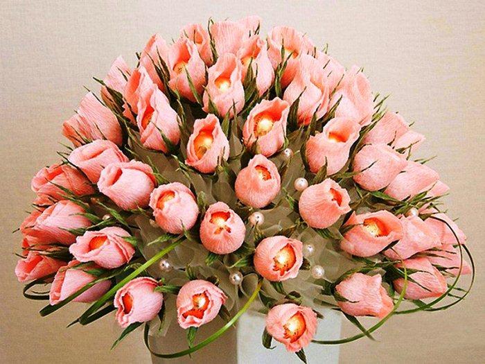 Конфеты цветы пошагово фото