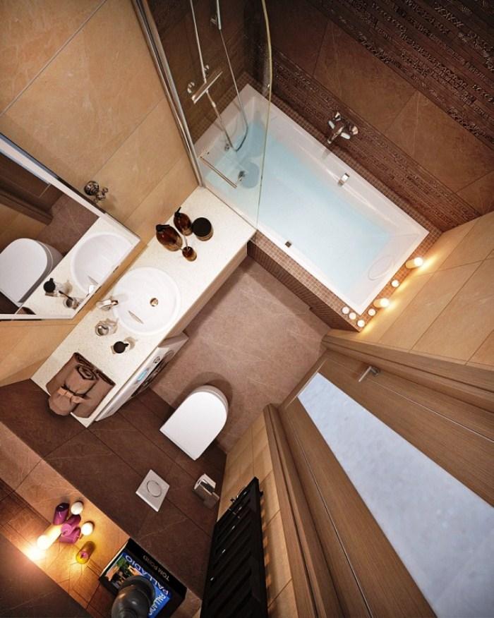 Ванная комната 3 метра дизайн