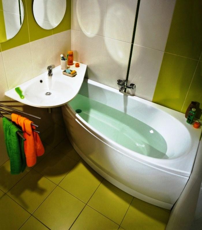 Дизайн треугольной ванной комнаты фото
