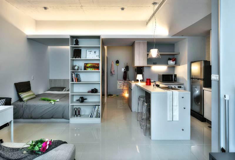 Дизайн квартиры студии фото 33 кв м