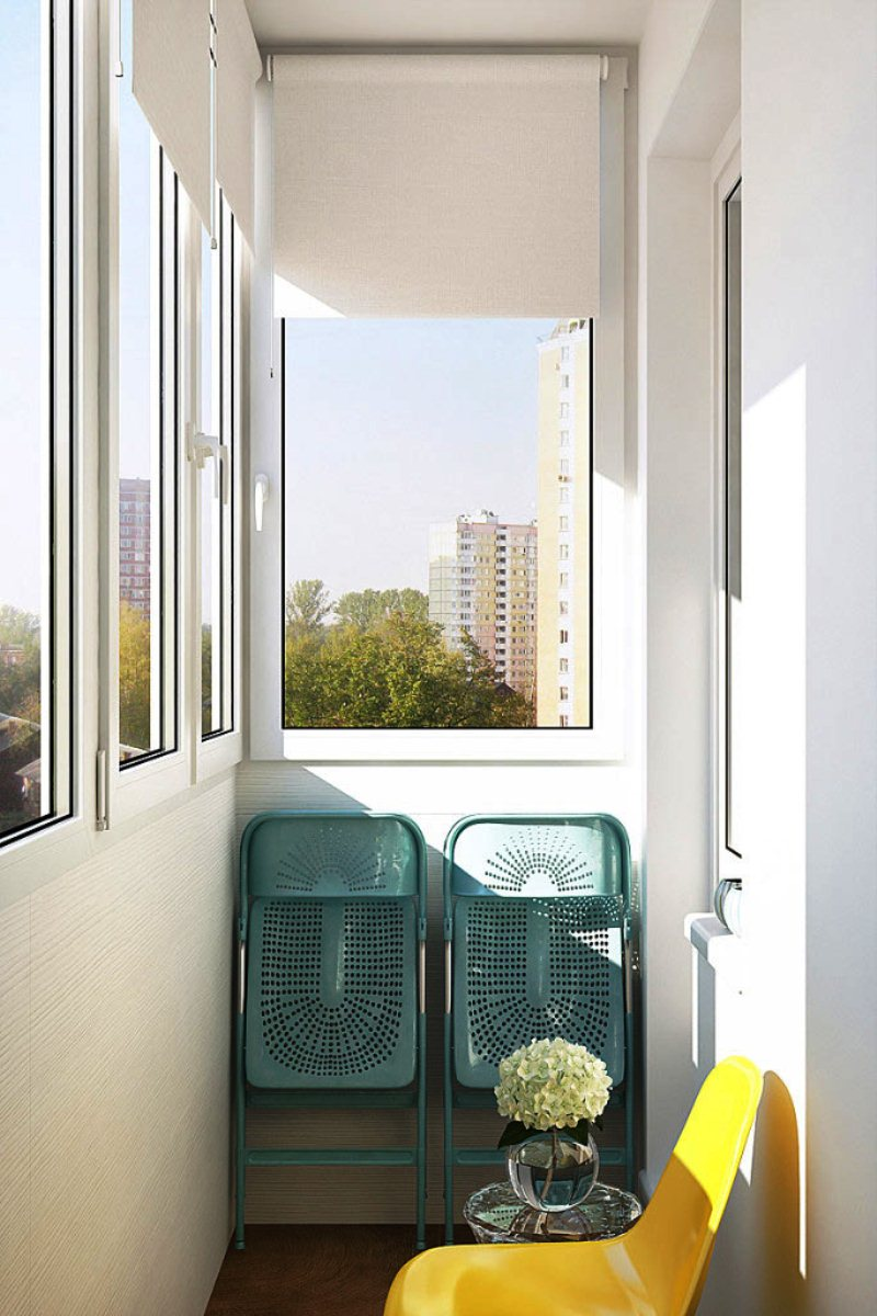 Свежий интерьер однокомнатной квартиры для молодой девушки.