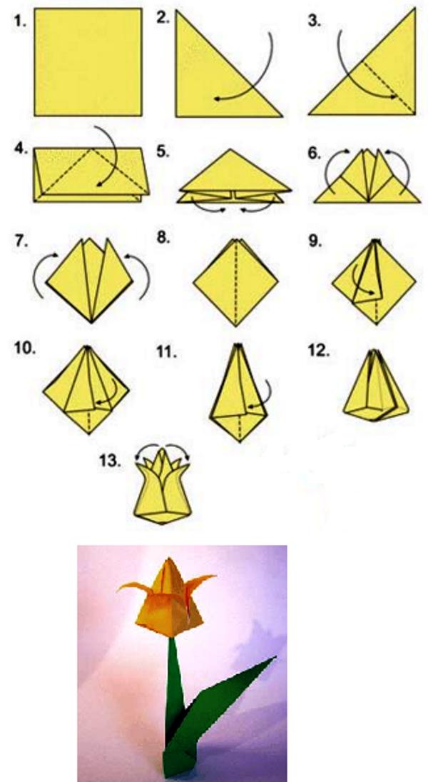 Схемы поделок оригами для дошкольников 21